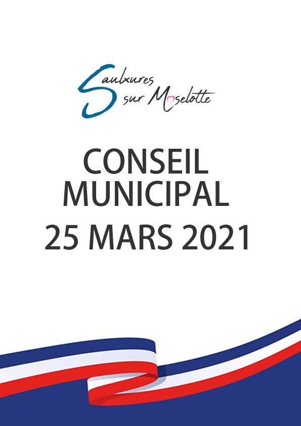 Conseil Municipal du 25 mars2021