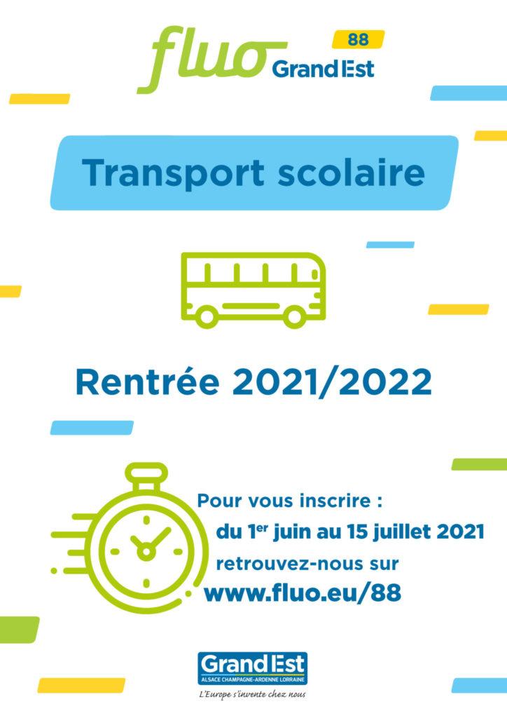 INSCRIPTIONS POUR LE TRANSPORT SCOLAIRE 2021/2022