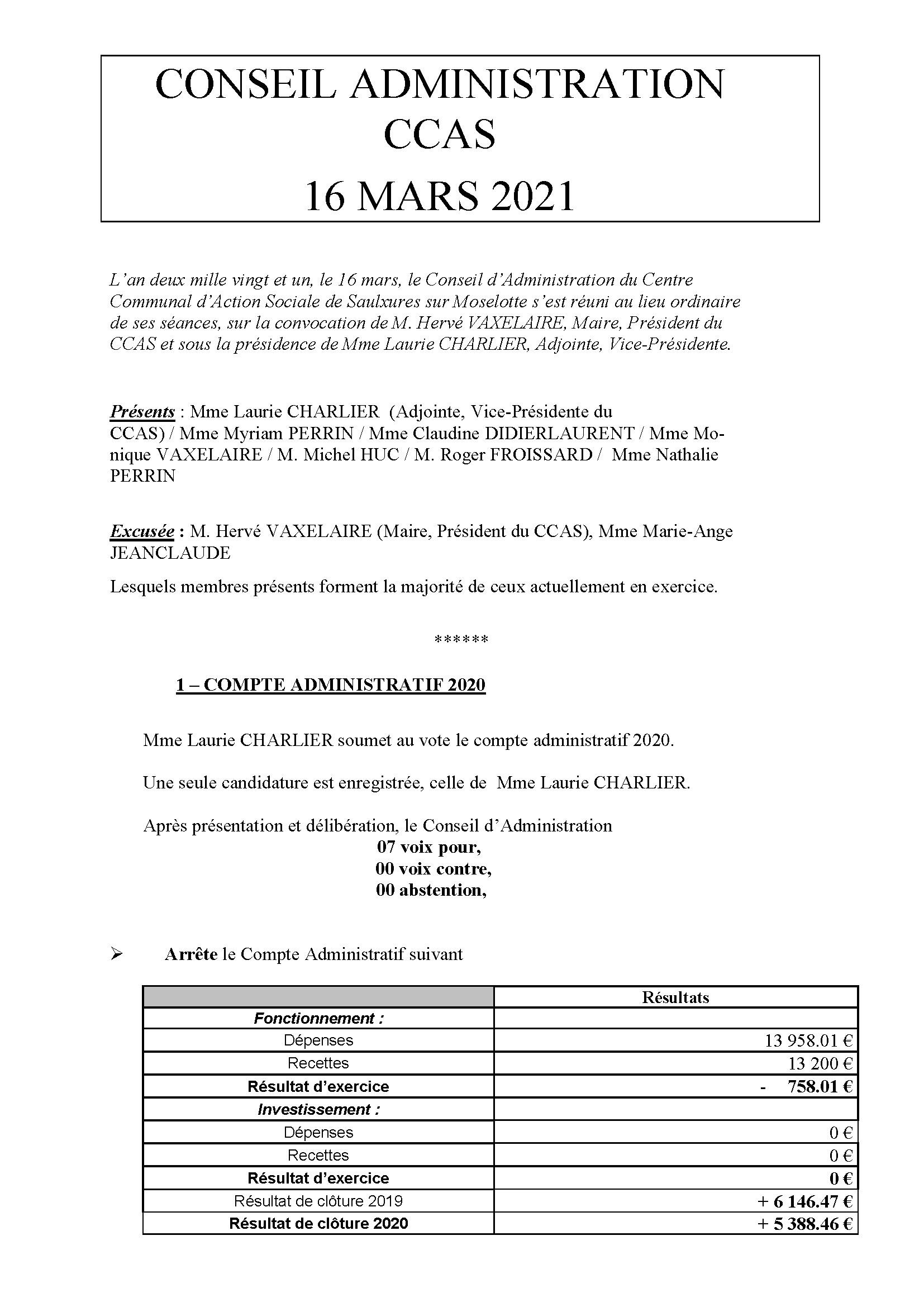 COMPTE RENDU CCAS 16 MARS2021