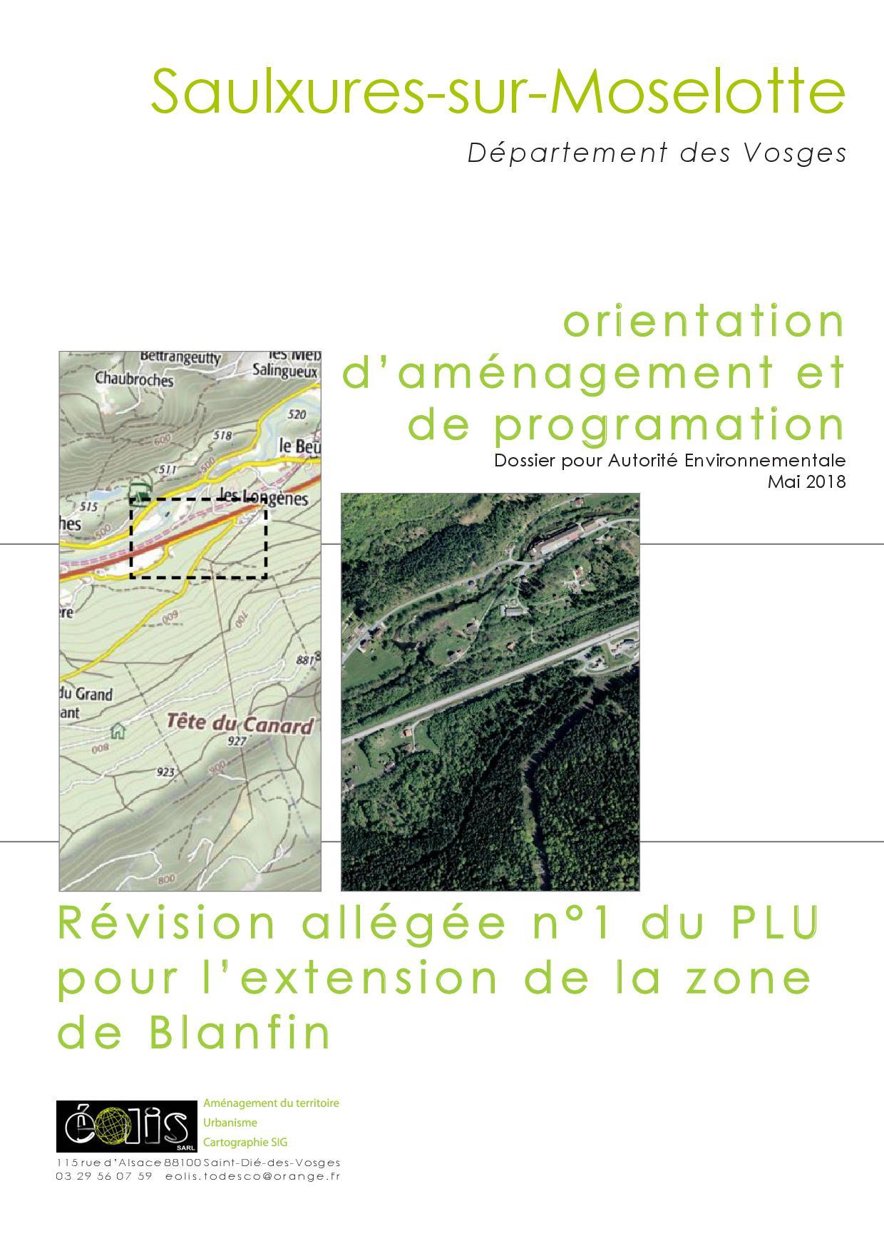 ORIENTATION D'AMENAGEMENT ET DE PROGRAMMATION ZONE DE BLANFIN
