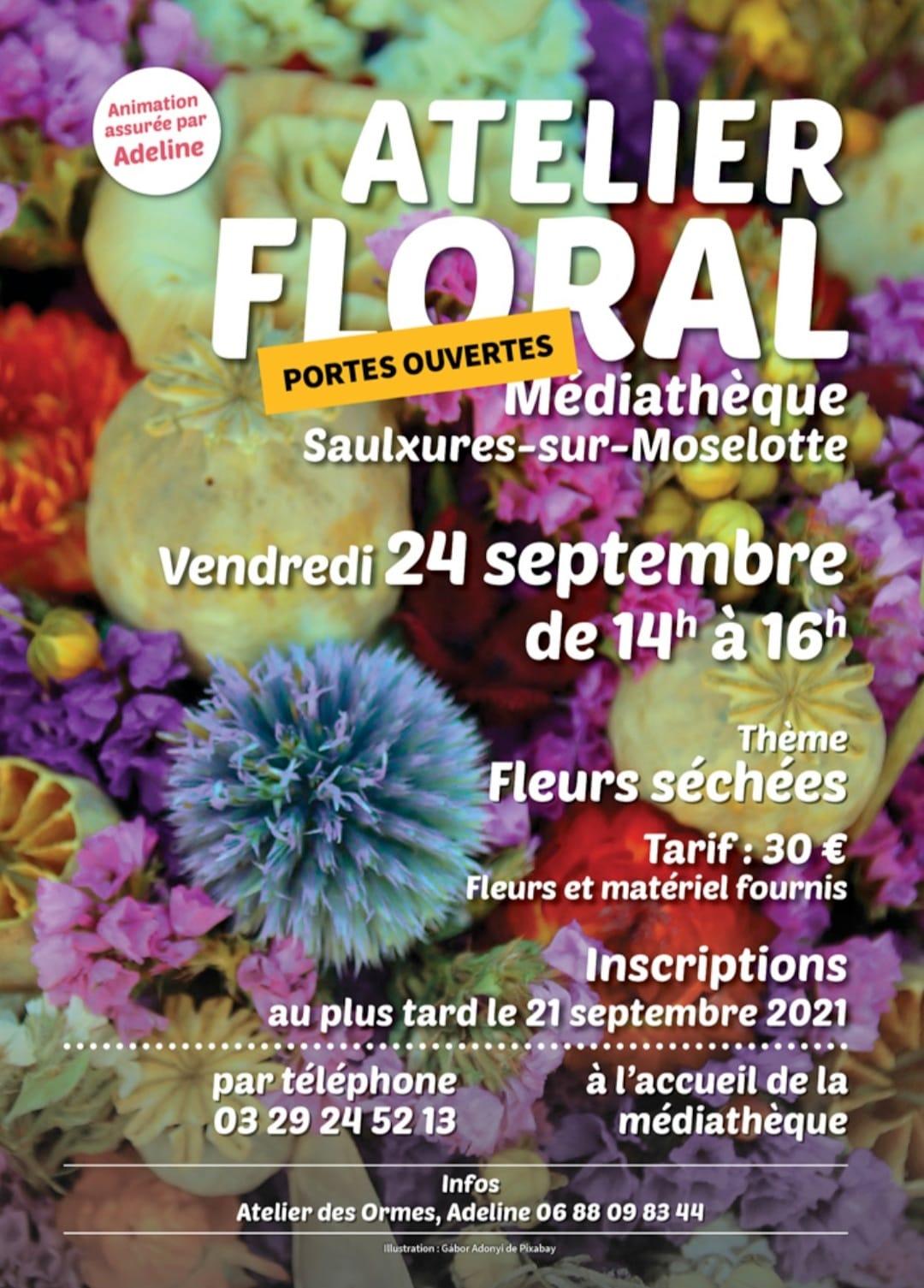 Atelier Floral le 24 septembre