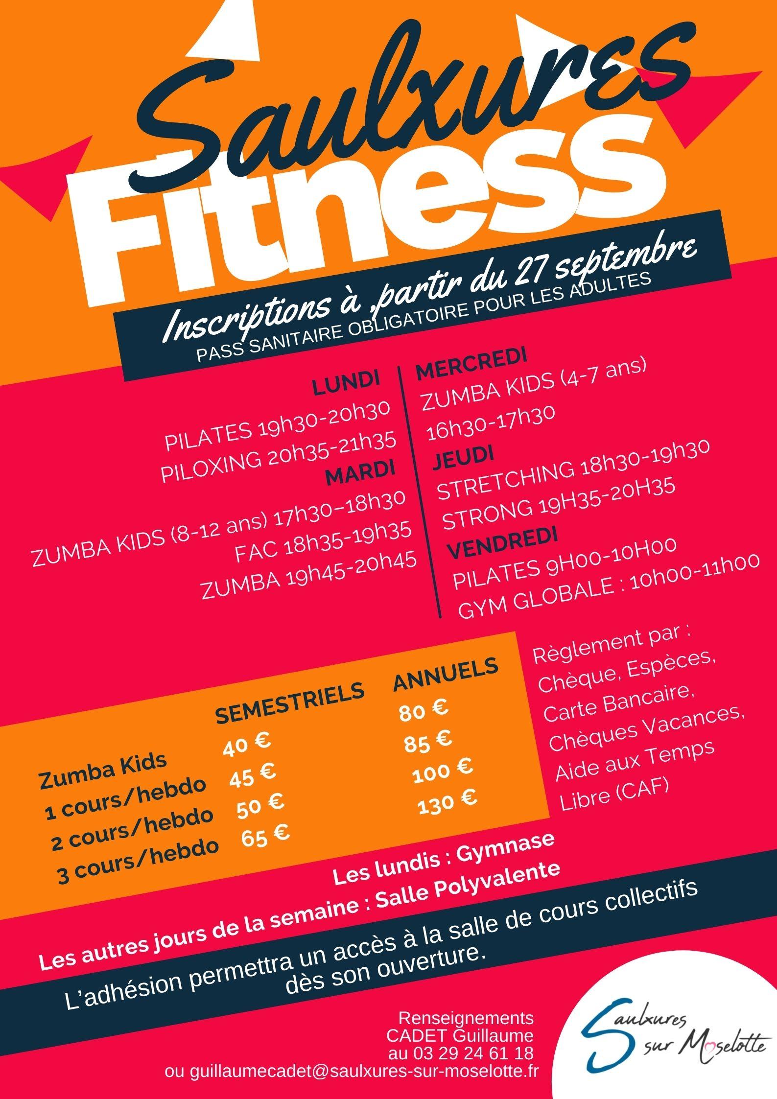 Inscriptions pour le Saulxures Fitness