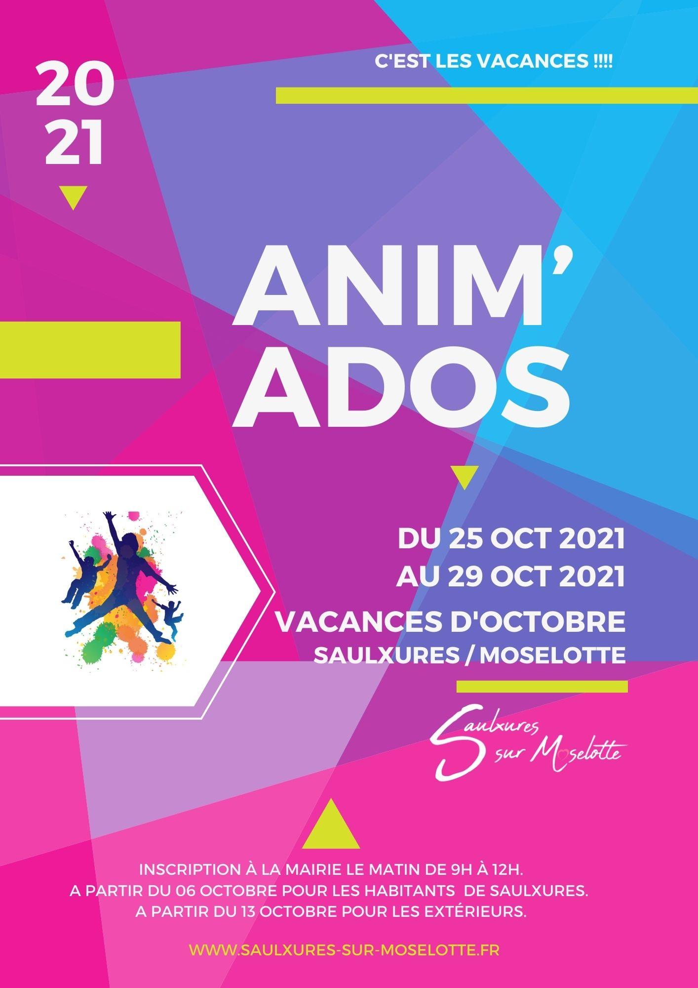 Anim'Ados Vacances d'octobre2021