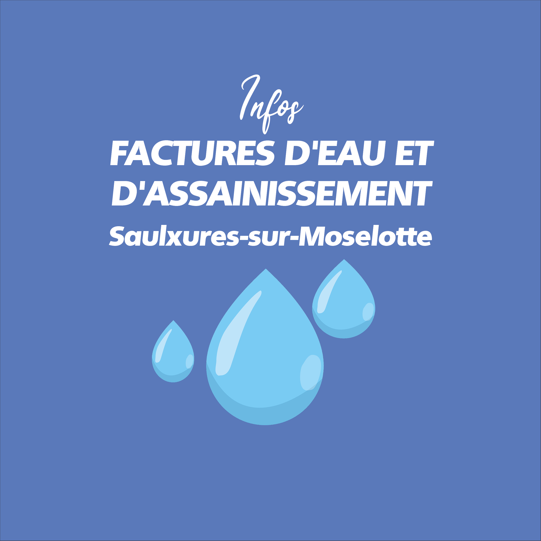Factures d'eau et d'assainissement
